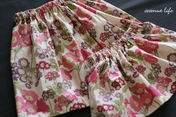 リバティおそろいスカート