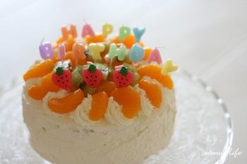5歳のバースディケーキ
