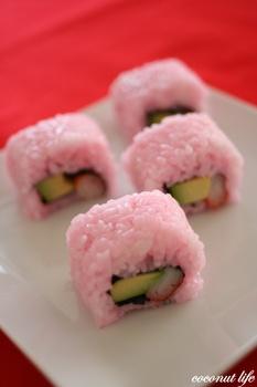 ピンクのお寿司(お菓子じゃないけど)